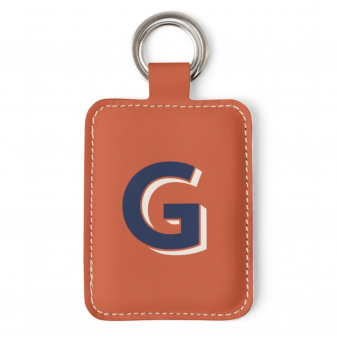 Leather Illustrated Key Ring