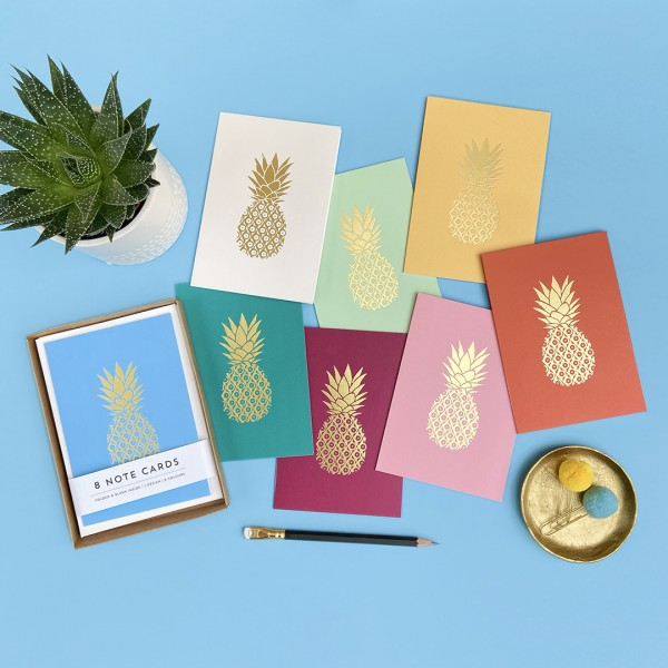 Pineapple Gold Hand Stamped Box Set