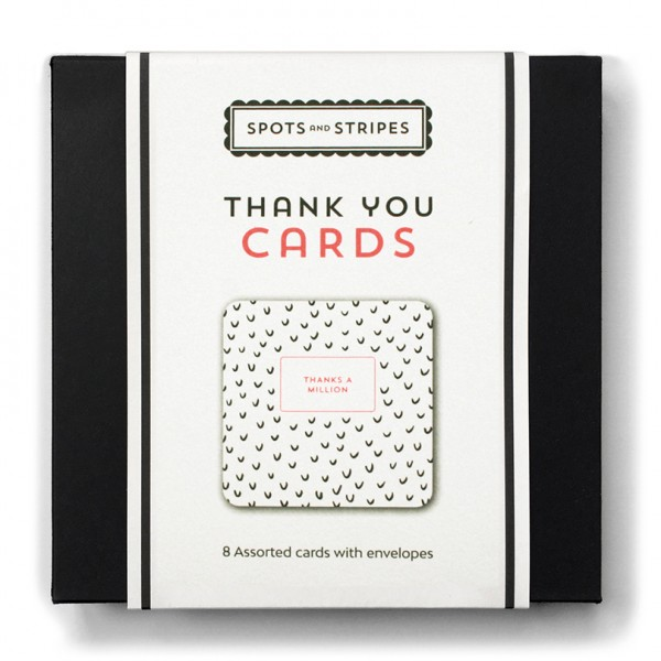 Thank you card box set