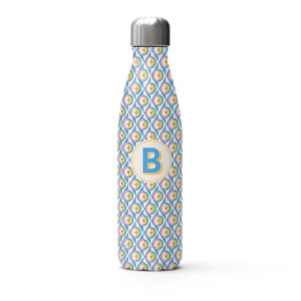 Pineapple Geometric Pattern Water Bottle