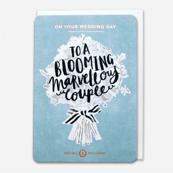 To a blooming marvellous couple